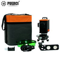PUERCI Green Laser Level 12 Lines 3D Level Self Leveling 360 Horizontal And Vertical Cross Super Powerful Green Laser Level