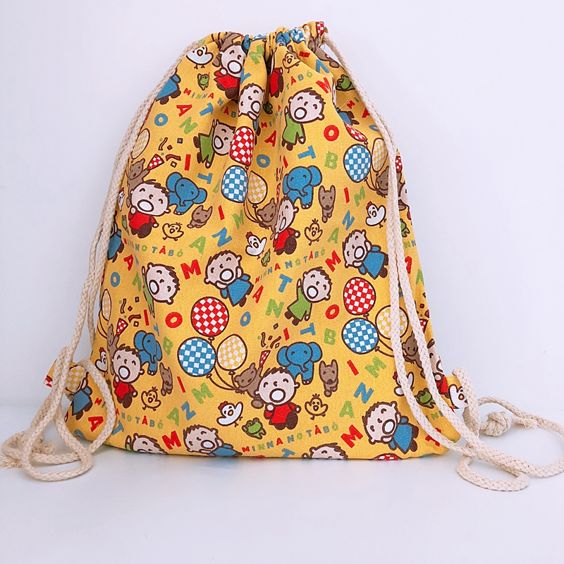 Canvas Backpacks String-Bags Knapsack Fashion Casual Cartoon New Unisex COOL Mouth Big