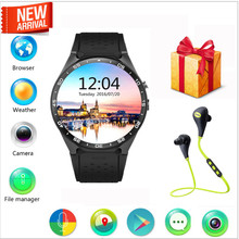 2016 neu Kommen KW88 3G WIFI GPS Smartwatches Android 5.1 OS MTK6580 CPU 1,39 Zoll Bildschirm 2.0MP Kamera 3G Wifi Nano SIM WCDMA