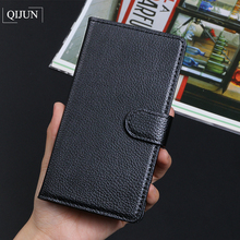 QIJUN Luxury Retro Leather Flip Wallet Cover For WIKO PULP 4G 5.0 pulp Fab Stand Card Slot Funda