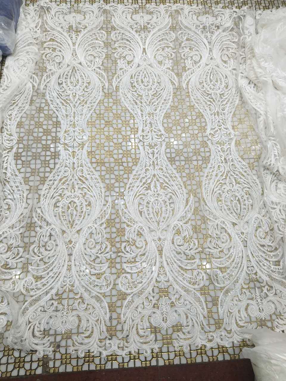 Free shipping High Quality guipure lace fabric 2017 African Voile Swiss Lace Fabric For Wedding dress