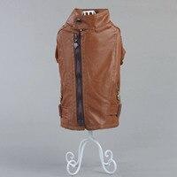 Pet köpek giysileri giysileri Taktik sonbahar ve kış VIP Bichon frise su geçirmez sıcak deri giyim