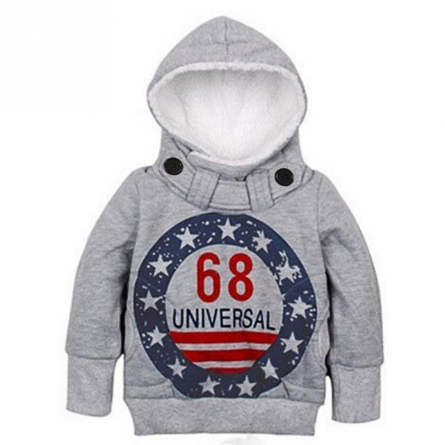 2018 Autumn Children's Hoodies Full Sleeve Boys Girls Fleece Sweatshirts Baby 68 Printed Pullover Hooded Outerwear Kids Clothes 2