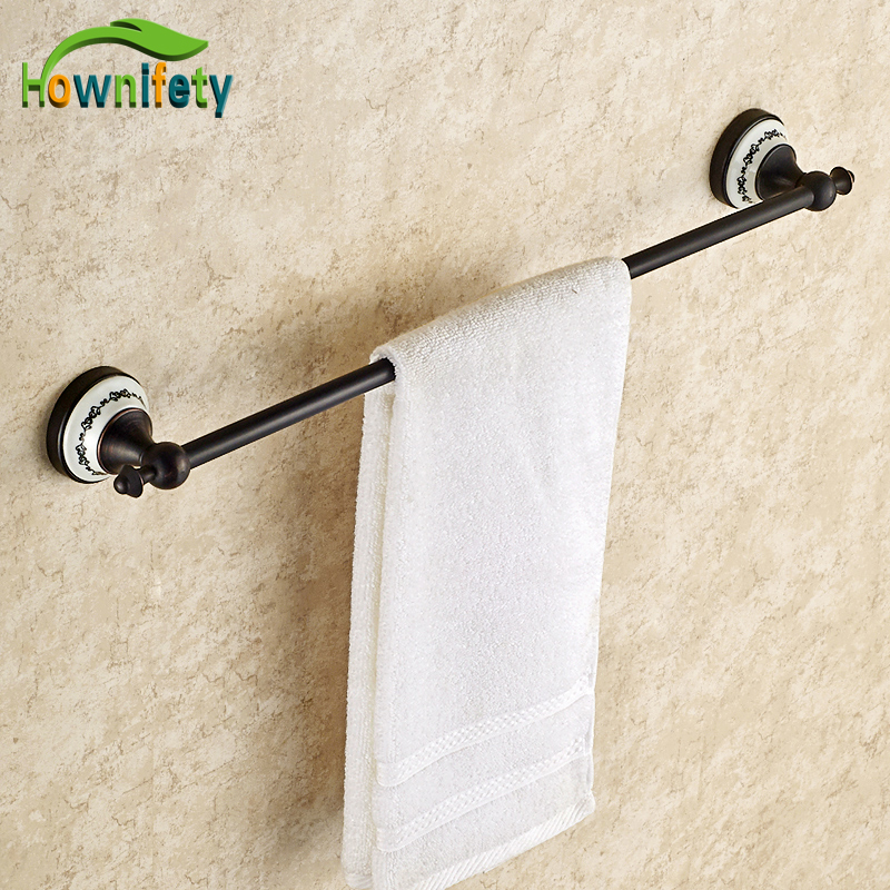 New Oil Rubbed Bronze Bath Single Towel Hanger Soild Brass Towel Rings