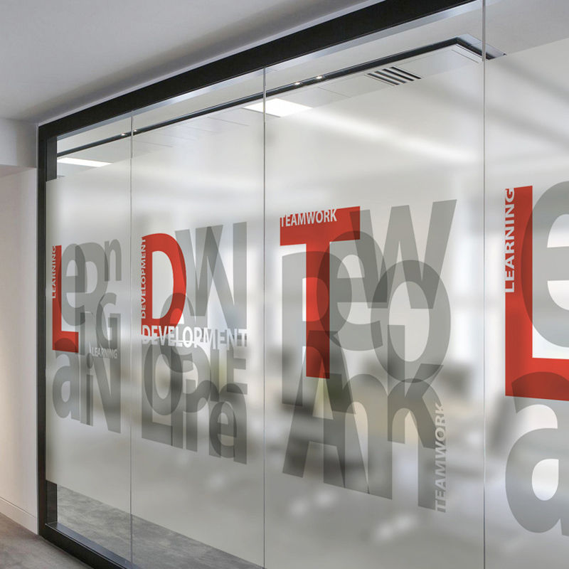 Matte Custom Decorative Glass Foil Explosion Proof Electrostatic
