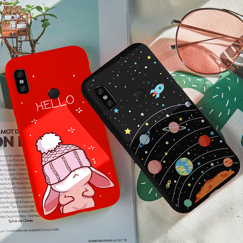 on sale 8ba20 72a91 US $2.54 15% OFF|ASINA Cartoon Silicone Case For Xiaomi Redmi Note 5 Case  Cover 3D Relief Design For Redmi Note 6 Pro Note 7 Shockproof Bumper -in ...