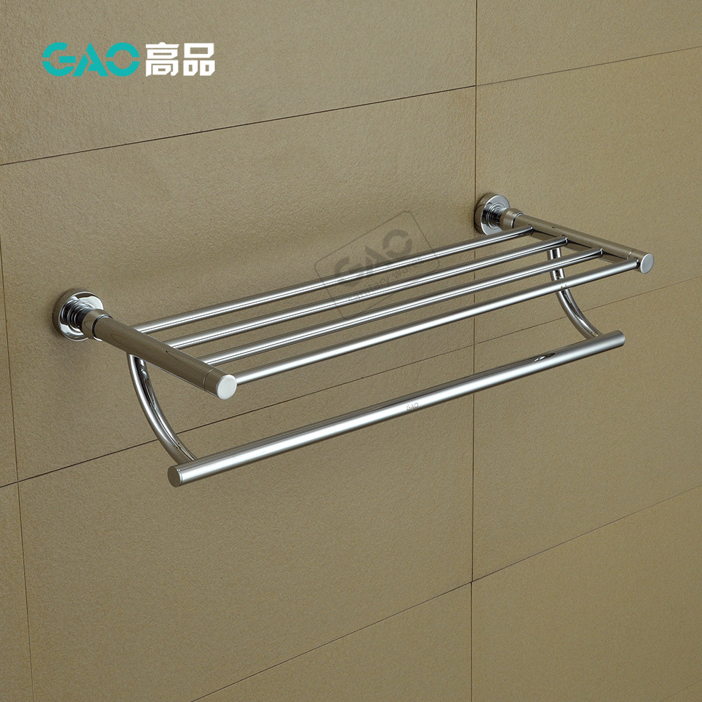 где купить Free Shipping Towel Bar,Towel Holder,Solid Brass Made,Chrome Finished, Bathroom Accessories,Towel Rack, 60CM Length, Wholesale по лучшей цене