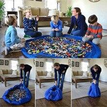 1PC New Nylon Portable Kids Toy Storage Bag and Play Mat Lego Toys Organizer Drawstring Pouch Fashion Practical Bags