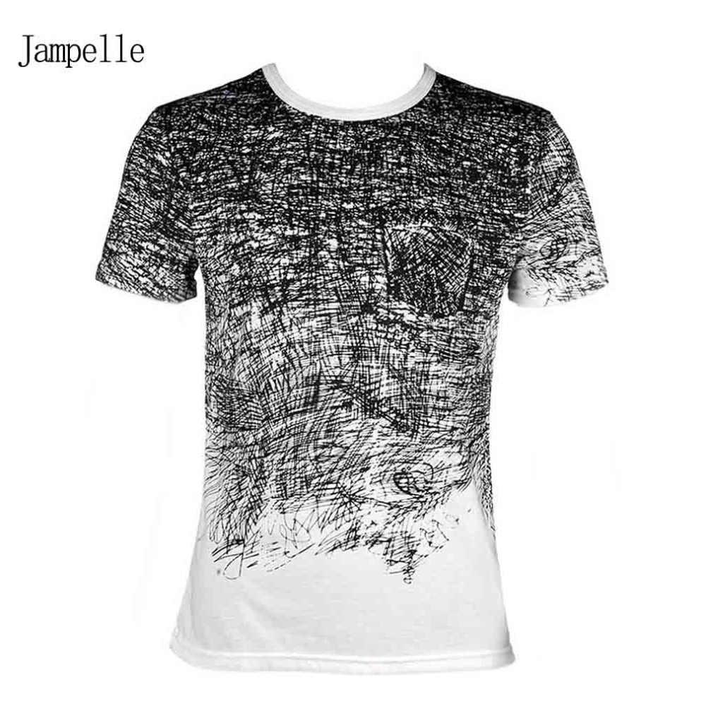 Męska koszulka letnia t-shirt krótkim rękawem męska koszulka z krótkim rękawem Camisa Masculina mężczyzna T koszula Blusa