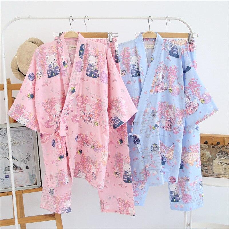Жапондық Kimono Robe & Pants әйелдер Pijamas - Ұлттық киім - фото 4