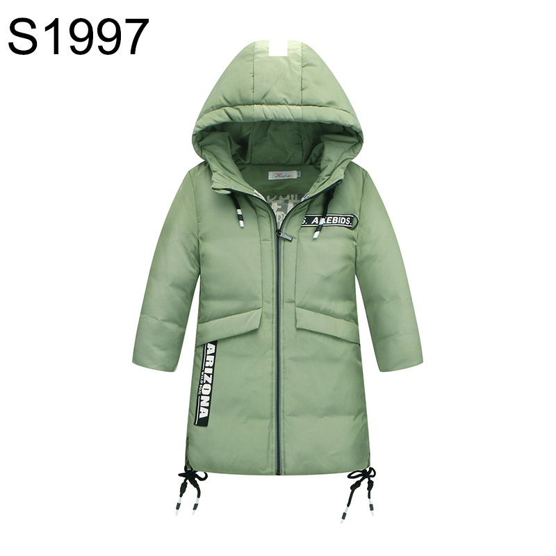 Boys Winter Down Coat Jacket Fashion Hooded Thickening Warm Children Parkas Big Girls long Sleeve Overcoat 4 Colors High Quality children winter coats jacket baby boys warm outerwear thickening outdoors kids snow proof coat parkas cotton padded clothes