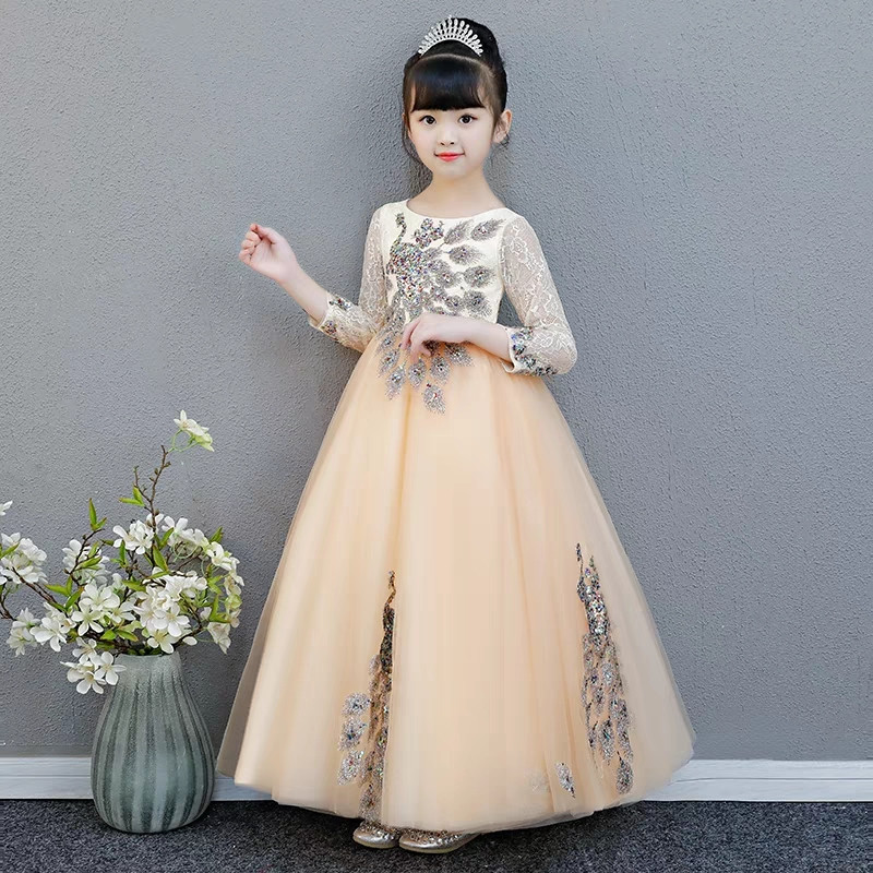 3~15Years Children Girls Luxury Sequined Birthday Wedding Princess Lace Dress Kids Teens Piano Pageant Host Prom Dress Clothes3~15Years Children Girls Luxury Sequined Birthday Wedding Princess Lace Dress Kids Teens Piano Pageant Host Prom Dress Clothes