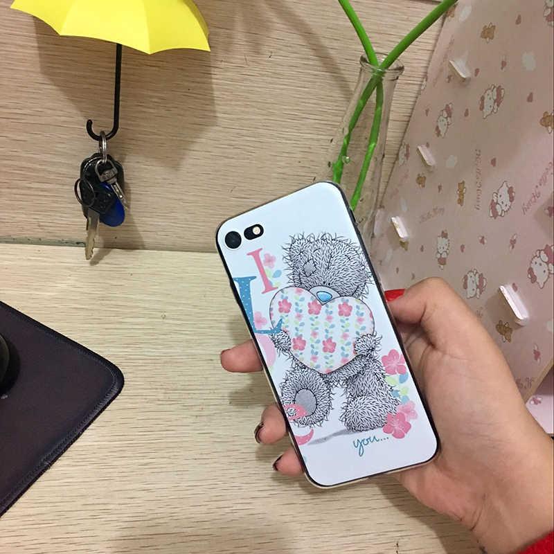 MaiYaCa siliconen telefoon case voor iphone x xs xr case Tatty Teddy Ik Je Beer Telefoon case Voor iphone 4 5 5s 6s 7 8plus 11pro case
