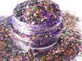 Resistente a los disolventes Glitter para Indie confeti del brillo del polaco G351