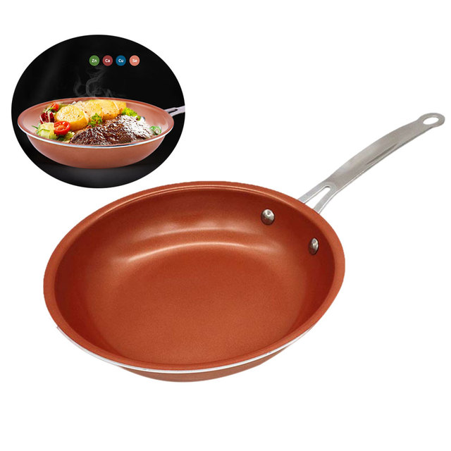 9 4 Inch Non Stick Frying Pan Copper Style Aluminium Alloy Pans Dishwasher Oven Safe Cookware Tb Sale