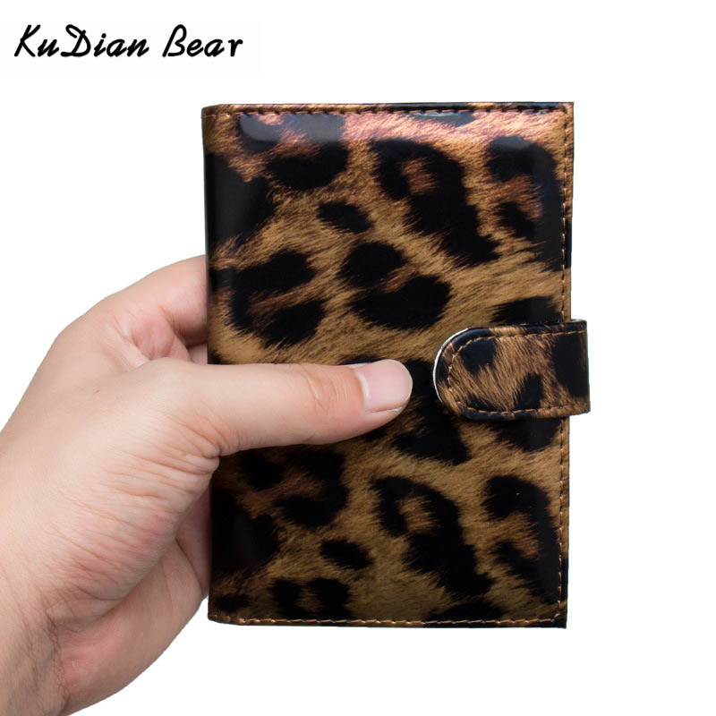 KUDIAN BEAR Women Passport Cover Leopard PU Leather Passport Holder Waterproof ID Card Case Fashion Porte Carte BIY050 PM49