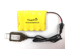 цена на Ni-Cd 6V 700mah AA battery for remote control electric toy+charger