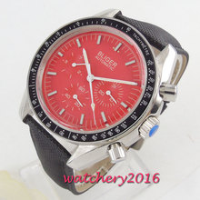 BLIGER Casual Red Watches for Men Steel Top Brand Luxury Military Leather Wrist Watch Man Clock Fashion Automatic Wristwatch