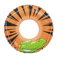 Dia 120cm Inflatable River Gator Swim Tube With Grab Rope Swimming Ring For Kids Pool Float Swim Toys Pool Water Fun Raft