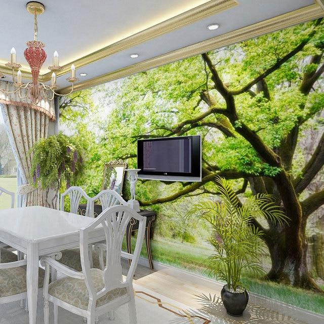 Bosque de madera paisaje rboles foto wallpaper 3d murales de la naturaleza grande wallpaper - Murales de madera ...