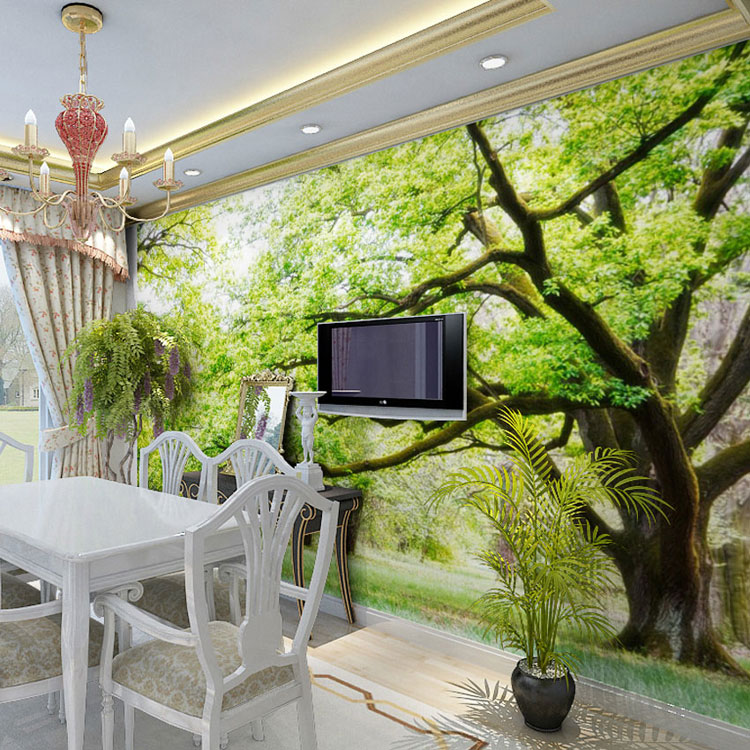 3d Wallpaper House Malaysia Forest Wood Landscape Trees Photo Wallpaper 3d Nature