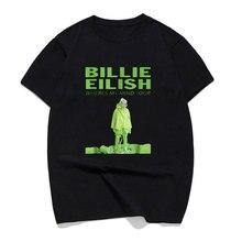 New Arrivals Billie Eilish Wheres My Mind Tour T Shirt Personality Men Streetwear Cotton Mans T-shirt Tops Ropa Hombre De Marca