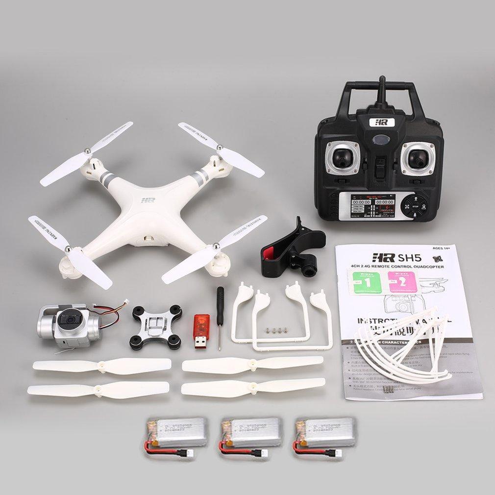 SH5HD FPV RC Дрон RC Квадрокоптер с камерой HD 1080 P широкоугольный Wifi живое видео высота удержания 3 батареи один ключ возврат дронов