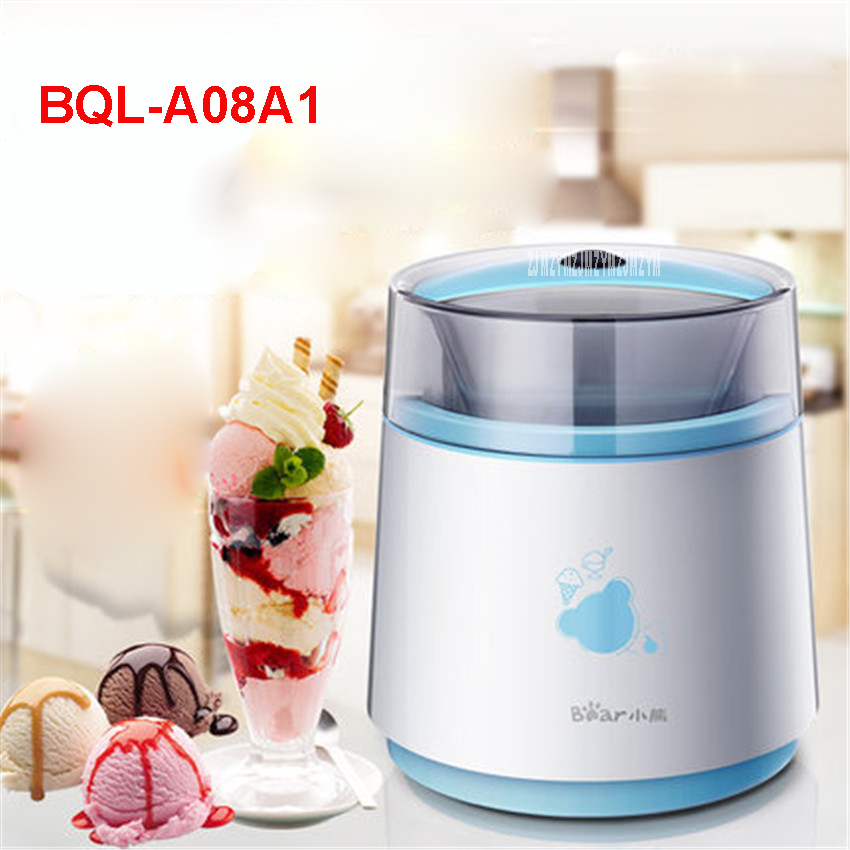 BQL-A08A1 220 V/50 Hz home automated mini intelligent family 7W ice cream machine self-cooling ice cream makers 800ml capacity edtid automatic ice cream makers big capacity household electric machine 2 barrels white