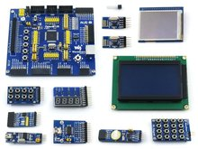 Carte de développement AVR ATmega128A-AU 8 bits RISC AVR ATmega128 carte de développement   11 Kits d'accessoires = paquet OpenM128 B