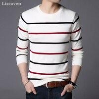 Liseaven Pullover Men Sweater Men Long Sleeve Shirt Mens Sweaters O Neck Pull Homme Male Knitwear