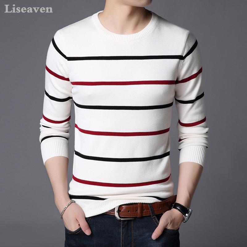Liseaven Pullover Men Sweater Men Long Sleeve Shirt Mens Sweaters O Neck Pull Homme Male Knitwear
