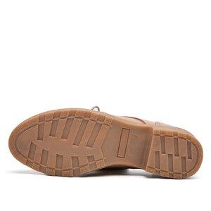 Image 4 - JZZDDOWN femmes chaussures en cuir véritable richelieu automne dames mocassins femmes femmes en cuir chaussures de luxe oxford chaussures pour les femmes