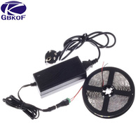 5M RGB Cool Warm White LED Strip Ribbon Light 5050 Waterproof Flexible Cuttable Power Adapter Remote