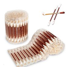 20/200Pcs Disposable Medical Iodine Cotton Stick Swab Home Disinfection Emergency Double Head Wood Buds Tips Nose Ears Cleaning