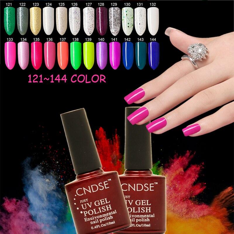 Más popular esmalte de uñas de gel UV LED Nail Gel Nail Art 10ml / Botella Esmalte de uñas Professional 132 Color Gel Polish Remoje de UV