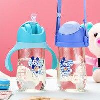 디즈니 어린이 sippy cup PPSU safety 산산조각 방지 스매싱 누출 방지 지능형 온도 감지 베이비 컵