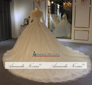 Image 3 - 2019 robe de soiree wedding dress amanda novias Shinning Model New