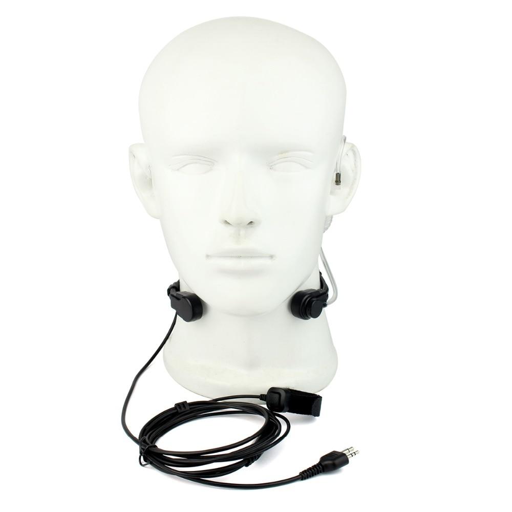 Throat Mic Microphone Finger PTT For Midland LXT210 LXT216 LXT303 Walkie Talkie Ham Radio Hf Transceiver 2 Way Radio C2207A