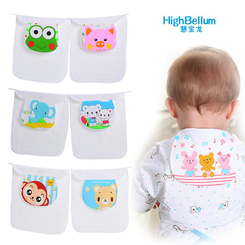 New 1 Pcs Cotton Baby Wicking Towel Absorb Sweat Random Cartoon Print Baby Towel Back Towel Perspiration Wipes Reusable