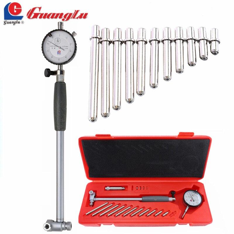GUANGLU Dial Bore Gauge 50 160mm/0.01mm Center Ring Dial Indicator Micrometer Gauges Measuring Tools