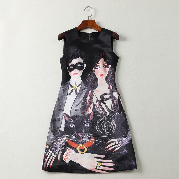 New High luxury Women England Black cat Mask Vintage Party Club Lolita Rock DressWear Dresses Clubwear Gypsy Unique #SN4