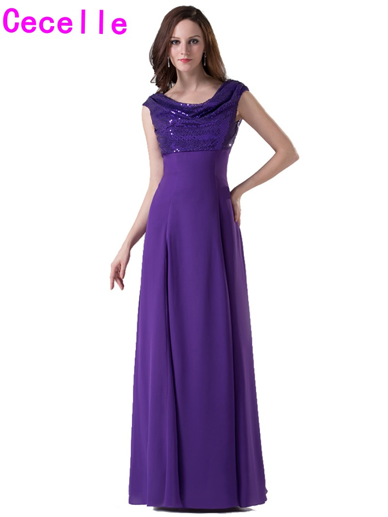 Aliexpress buy real photos purple long modest bridesmaid aliexpress buy real photos purple long modest bridesmaid dresses with cap sleeves a line floor length outdoor formal wedding party gowns custom from ombrellifo Gallery