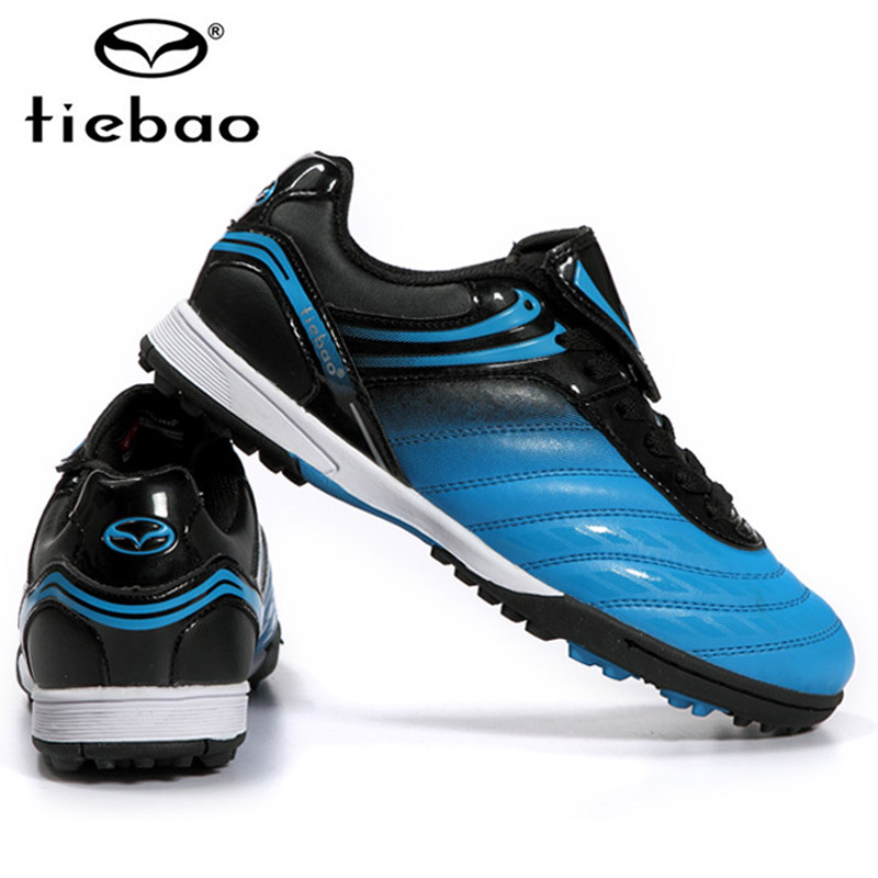 TIEBAO Professional Indoor Soccer Shoes IN & IC Athletic Training Shoes Men Women Rubber Sole Football Boots crampons de foot