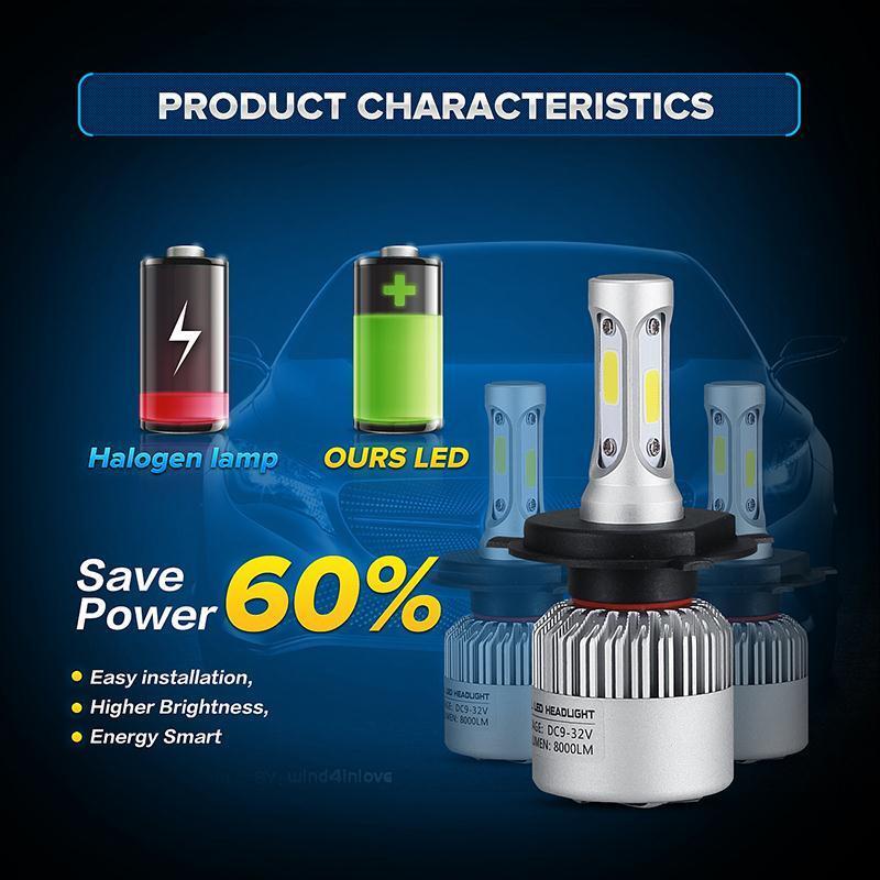 72w-Pair-COB-Chips-H4-H13-Hi-lo-Beam-H7-9005-HB3-9006-ddfHB4-H11-LED