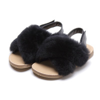 2019 Spring Autumn New Magic Slippers Soft Soles Sandals Slippers Hairy Casual Fashion Shoe Comfortable Children's Soft Slippers