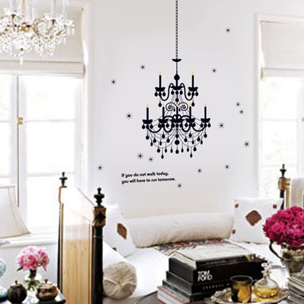 Grand chandelier light fancy stars home decals wall stickers vinyl grand chandelier light fancy stars home decals wall stickers vinyl art words quote art bedroom classy girls room decor poster in wall stickers from home aloadofball Gallery