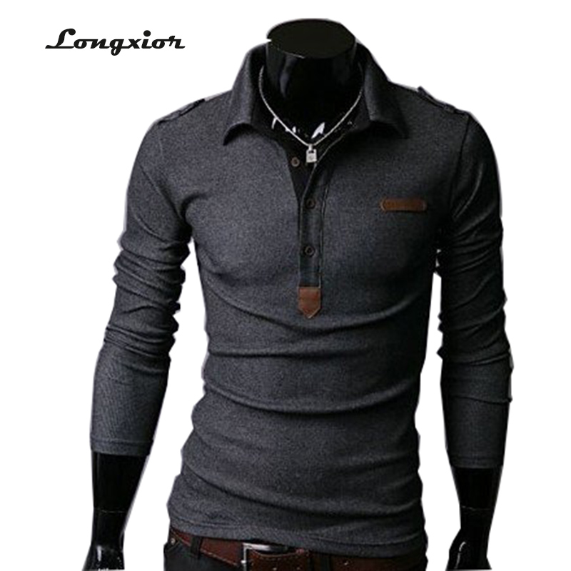Men t shirt new man spring 2016 men 39 s long sleeve t shirt for Long sleeve fitted tee shirt