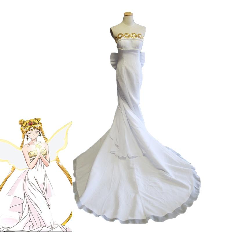 Sailor Moon Cosplay Costume Princess Serenity Dress Tsukino Usagi Full Formal Dresses Halloween Carnival Uniforms Custom Made