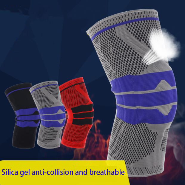 Spring Basketball Support Silicon Padded Knee Pads Support Brace Meniscus Patella Protector Sports Safety Protection Kneepad