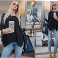 AS18 Long Sleeve Women Top 2016 New Women Loose Plus Size Casual Blouses Irregular Shirts For Women Clothes